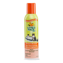 Citrus Magic Pet Odor Eliminating Spray Air Freshener, Ocean Breeze, 7.2 oz.