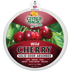 Citrus Magic On The Solid Air Freshener, 7.0 oz., Wild Cherry