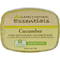 Clearly Natural Glycerine Bar Soap, 4 oz., Cucumber