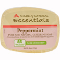 Clearly Natural Glycerine Bar Soap, 4 oz., Peppermint