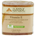 Clearly Natural Glycerin Bar Soap, 4 oz., Vitamin E, 3-Count