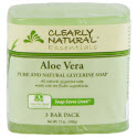 Clearly Natural Glycerin Bar Soap, 4 oz., Aloe Vera, 3-Count